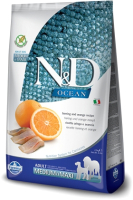 Корм для собак Farmina N&D Ocean Fish & Orange Adult Medium & Maxi (2.5кг) -