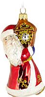 Елочная игрушка Грай Дед Мороз и часы Ф-58 -
