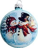 Елочная игрушка Грай Медальон-Снеговики Ф-93 -