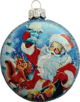 Елочная игрушка Грай Медальон-Дед Мороз Ф-91 -