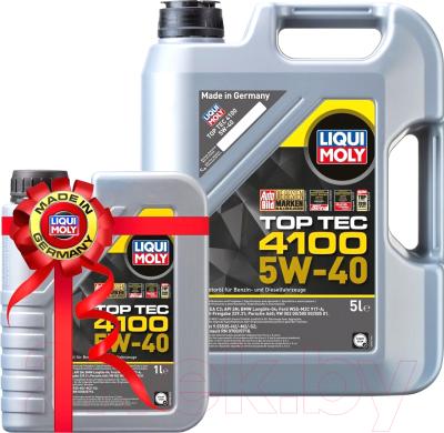 Моторное масло Liqui Moly Top Тес 4100 5W40 / 9511+9510 (5л+1л)