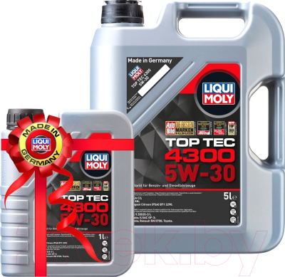 Моторное масло Liqui Moly Top Тес 4300 5W30 / 2324+2323 (5л+1л)