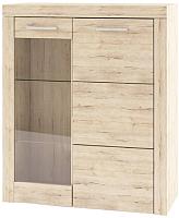 Шкаф с витриной Anrex Oskar 1V1D (дуб санремо) -