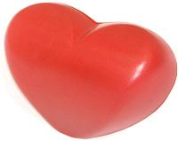 Подголовник для ванны 1Марка Сердце (красный) -
