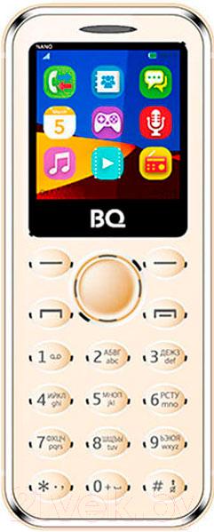 Купить Мобильный телефон BQ, Nano BQ-1411 (золото), Китай