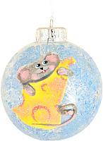 Елочная игрушка Грай Мышка с сыром ШБ80-13 -