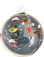 Елочная игрушка Грай Мышонок и Ворона ШБ100-34 (прозрачный) -
