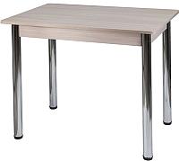 Обеденный стол FORT Прямоугольный 90x60x75 (шимо светлый/хром) -