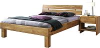 Каркас кровати Stanles Джудит 140x200 (дуб с воском) -