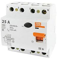 Устройство защитного отключения TDM ВД1-63S-4Р-63А-300мА / SQ0203-0073 -