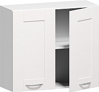 Шкаф навесной Заречье Румба РБ22 (белый/фасад Weave) -