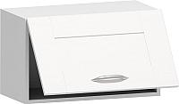 Шкаф навесной Заречье Румба РБ24 (белый/фасад Weave) -