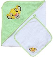 Комплект для купания Polini Kids Disney baby Король Лев с вышивкой (салатовый) -