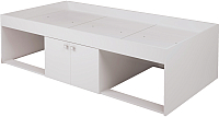 Односпальная кровать Polini Kids Simple 3000 Н с нишами (белый) -