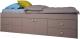 Односпальная кровать Polini Kids Simple 3100 Н с 4 ящиками (серый) -