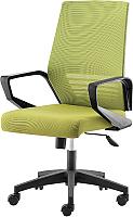 Кресло офисное Norden Ergo Black LB (черный/зеленый/зеленый) -