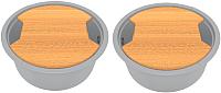 Мойка кухонная KitKraken Duo Lake O-510.2B + две разделочные доски (серый) -