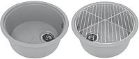 Мойка кухонная KitKraken Duo Lake O-510.2B + решетка (серый) -