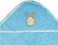 Полотенце с капюшоном Alis Зверята new (голубой) -