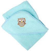 Полотенце с капюшоном Alis Зверята new (ментоловый) -