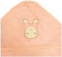 Полотенце с капюшоном Alis Зверята new (персиковый) -