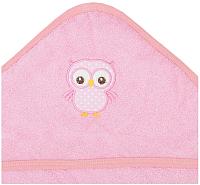 Полотенце с капюшоном Alis Зверята new (розовый) -