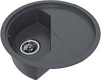 Мойка кухонная KitKraken Stream C-510M (графит) -