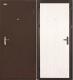 Входная дверь el'Porta Ультра Лайт Антик медь/Белый дуб (85x205, правая) -