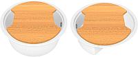 Мойка кухонная KitKraken Duo Stream C-510M + две разделочные доски (белый) -