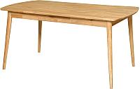 Обеденный стол Stanles Сканди 120x80 (дуб с воском) -