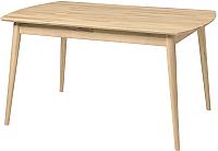 Обеденный стол Stanles Сканди 140x80 (отбеленный дуб) -