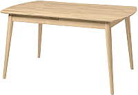 Обеденный стол Stanles Сканди 120x90 (отбеленный дуб) -