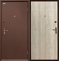 Входная дверь el'Porta Ультра Про Антик медь/Белый дуб (95x205, правая) -
