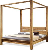 Каркас кровати Stanles Севилья+ 160x200 (дуб с воском) -