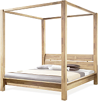 Каркас кровати Stanles Севилья+ 160x200 (отбеленный дуб) -
