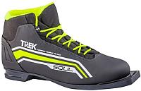 Ботинки для беговых лыж TREK Soul 1 ИК (черный/лайм, р-р 45) -
