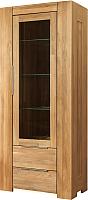 Шкаф с витриной Stanles Фьорд 1 (дуб) -