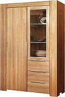 Шкаф с витриной Stanles Фьорд 2 (дуб с воском) -