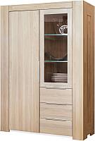 Шкаф с витриной Stanles Фьорд 2 (отбеленный дуб) -