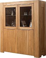 Шкаф с витриной Stanles Фьорд 4 (дуб с воском) -