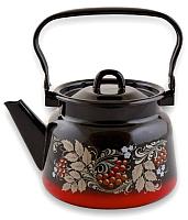 Чайник СтальЭмаль С2714.8 (красный/черный) -
