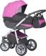 Детская универсальная коляска Expander Mondo Grey 3 в 1 (02/magenta) -