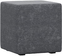 Пуф Woodcraft Куб (темно-серый шенилл) -