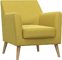 Кресло мягкое Woodcraft Дагни (горчичный велюр) -