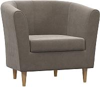 Кресло мягкое Woodcraft Эли (дымчатый бархат) -