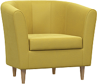 Кресло мягкое Woodcraft Эли (горчичный велюр) -