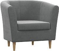 Кресло мягкое Woodcraft Эли (свинцовый бархат) -