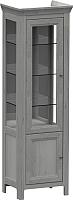 Шкаф-пенал с витриной WellMaker Норманн ШВ2-60 ПП (люберон) -