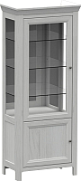 Шкаф с витриной WellMaker Норманн ШВ2-80 ПП (дижон) -
