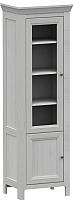 Шкаф-пенал с витриной WellMaker Норманн ШП2-60 ПП (дижон) -